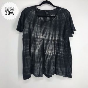 MODAinternational tie dye shirt black and white xl